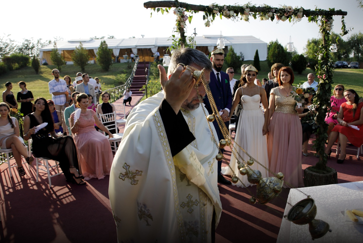 Romanian outdoor wedding ceremony